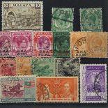 Briefmarkenensammlung Straits Settlements gestempelte