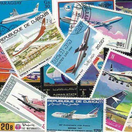 Flugzeug Boeing: 15 verschiedene Briefmarken