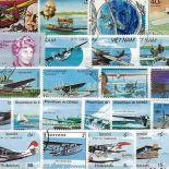 Collection de timbres Avions Canadairs oblitérés