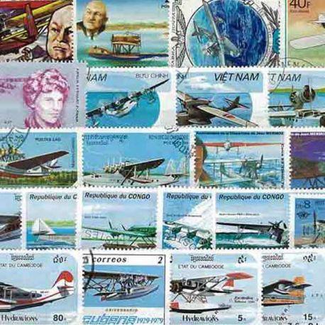 Flugzeug Wasser Bomber Flugzeuge: 25 verschiedene Briefmarken