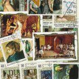 Collezione di francobolli Degas cancellati