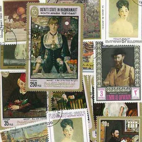 Collection de timbres Manet oblitérés