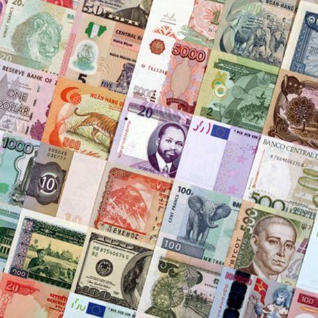 Tous Pays - Collection de 25 billets de banque tous différents.