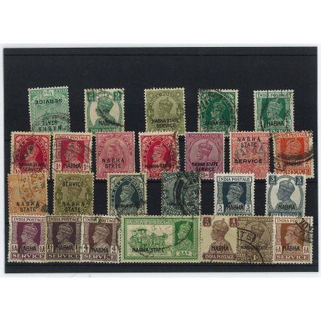 Nabha - 10 verschiedene Briefmarken