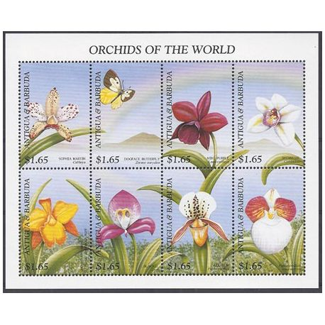 Timbres orchidees Antigua N° 2206/2213 neufs
