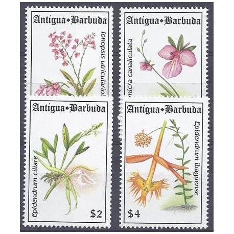 Timbres orchidees Antigua N° 1698/1701 neufs