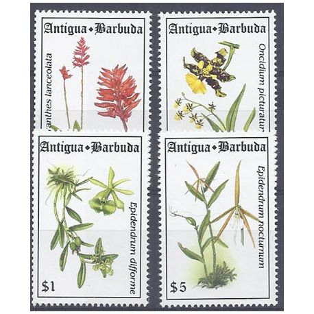 Timbres orchidees Antigua N° 1714/1717 neufs