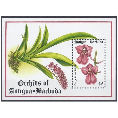 Timbres orchidees Antigua Bloc N° 286 neuf