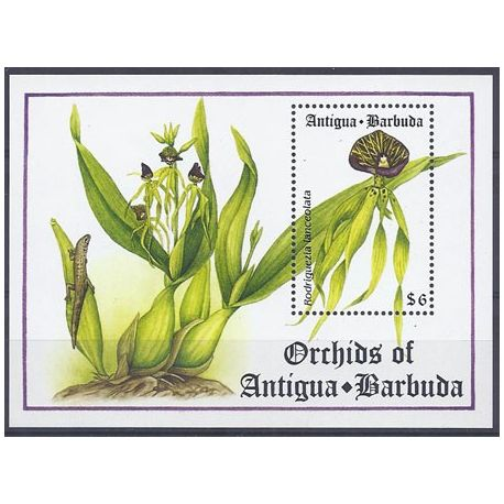 Timbres orchidees Antigua Bloc N° 288 neuf