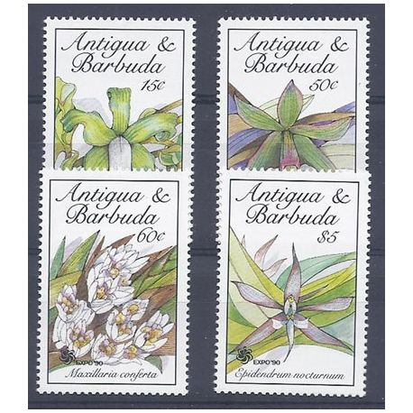 Timbres orchidees Antigua N° 1219/1222 neufs