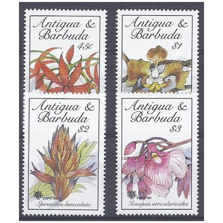 Timbres orchidees Antigua N° 1257/1260 neuf