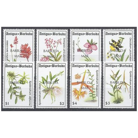 Timbres orchidees Barbuda N° 1401/1408 neufs