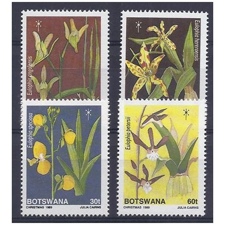 Timbres orchidees Botswana N° 611/614 neufs