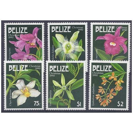 Timbres orchidees Belize N° 944/949 neufs