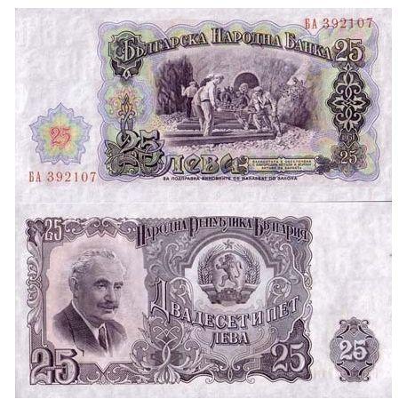 Billets de banque Bulgarie Pk N° 84 - 25 Leva