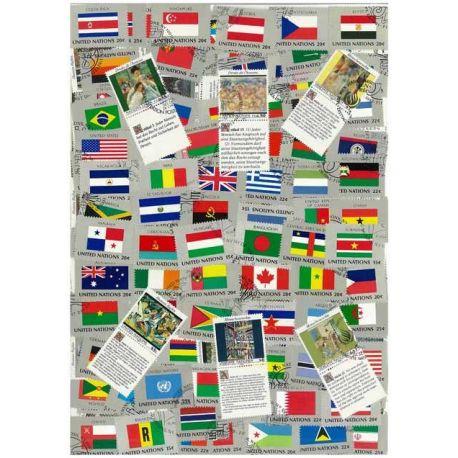 Collection de timbres Nations Unies oblitérés