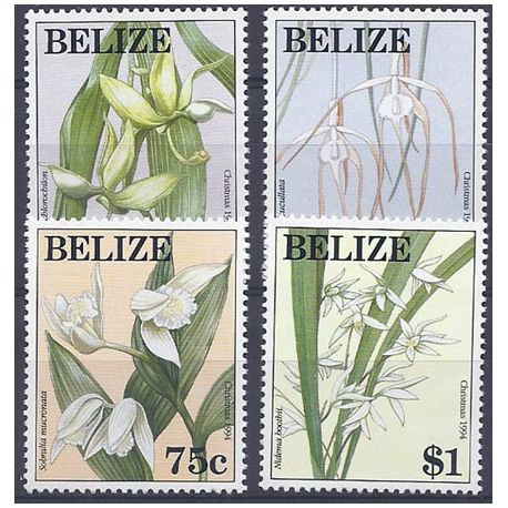 Timbres orchidees Belize N° 1018/1021 neufs