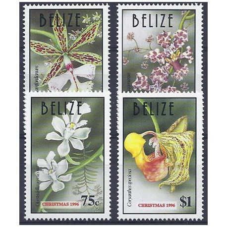 Timbres orchidees Belize N° 1071/1074 neufs