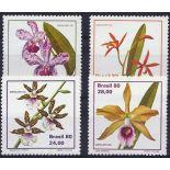 Neue Briefmarken Orchideen Brasilien Nr. 1439/1442