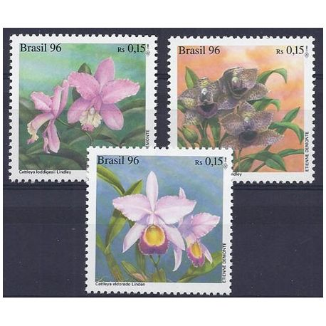 Timbres orchidees Brésil N° 2290/92 neufs