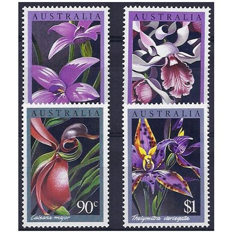 Timbres orchidees Australie N° 973/976 neufs