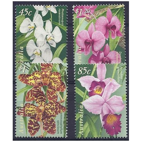 Timbres orchidees Australie N° 1689/1692 neufs