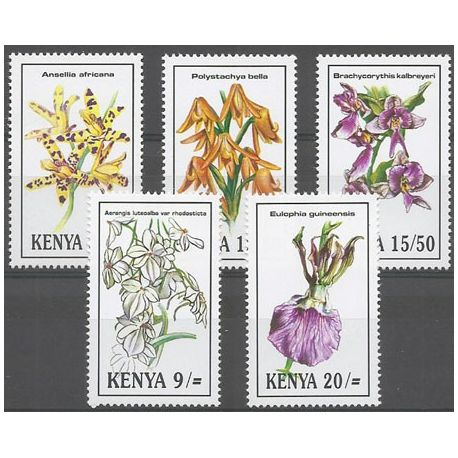 Timbres orchidees Kenya N° 582/586 neufs
