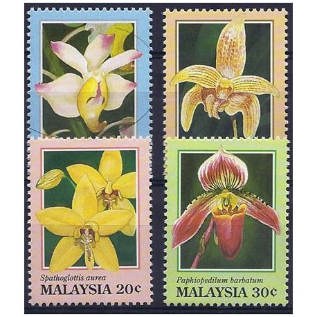Timbres orchidees Malaisie N° 527/530 neufs