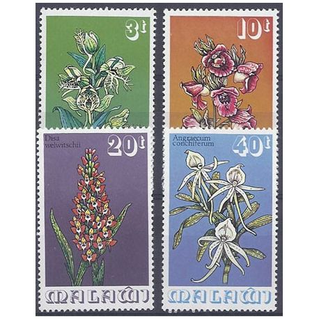Timbres orchidees Malawi N° 247/250 neufs