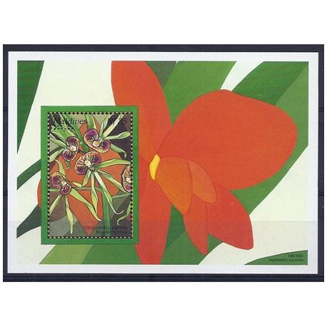 Timbres orchidees Maldives bloc N° 339 neuf