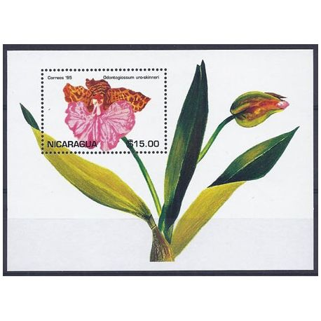 Timbres orchidees Nicaragua bloc N° 255 neuf