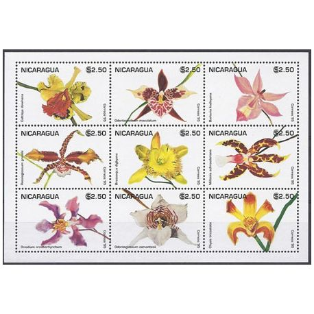 Timbres orchidees Nicaragua N° 2081/89 neufs