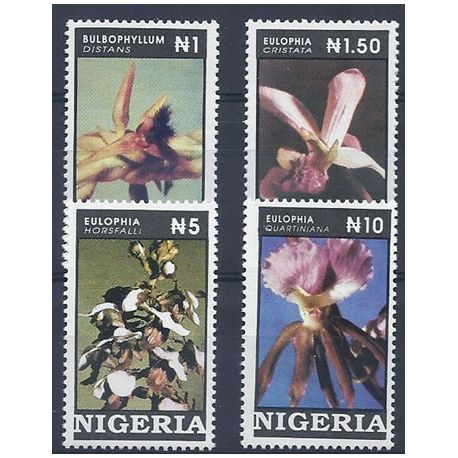 Timbres orchidees Nigéria N° 616/19 neufs