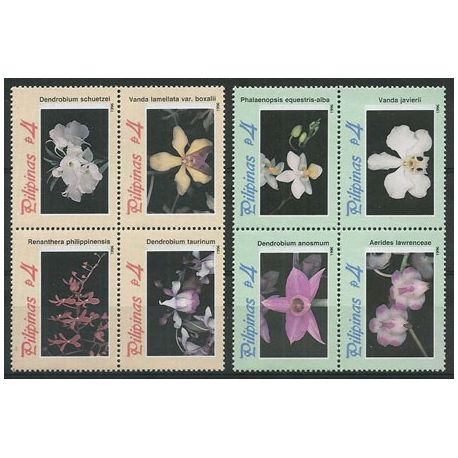 Timbres orchidees Philippines N° 2318/2325 neufs