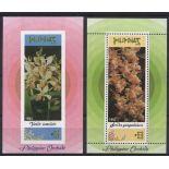 Neue Briefmarken philipinische Orchideen Block Nr. 60/61