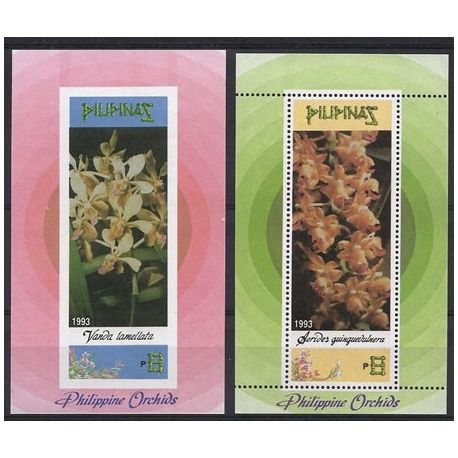 Timbres orchidees Philippines bloc N° 60/61 neufs
