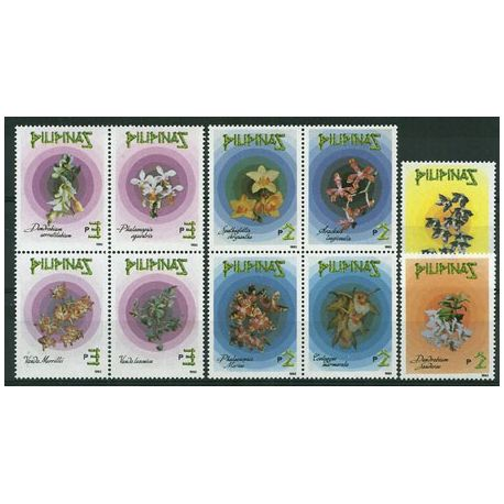 Timbres orchidees Philippines N° 1996/2005 neufs