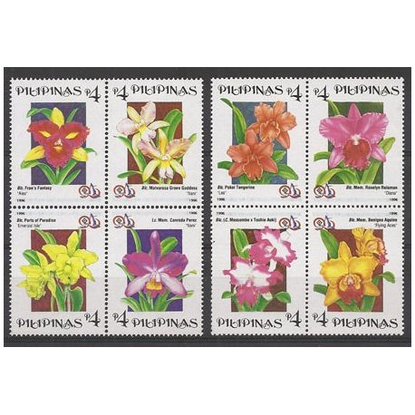 Timbres orchidees Philippines N° 2326/2333 neufs