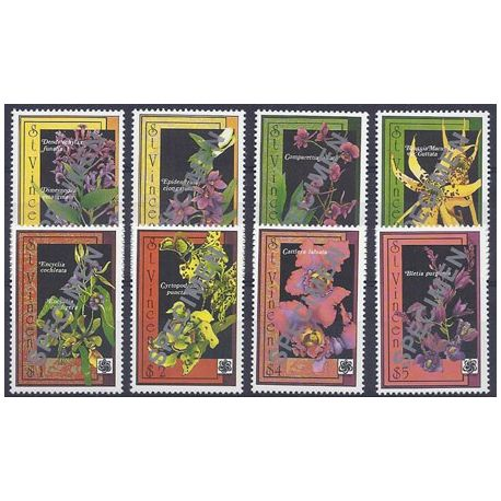 Timbres orchidees St Vincent N° 1230A/H neufs