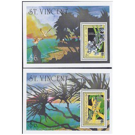Collection Timbres Flore Timbres orchidees St Vincent bloc N° 71A/B neufs à partir de 20,00 €