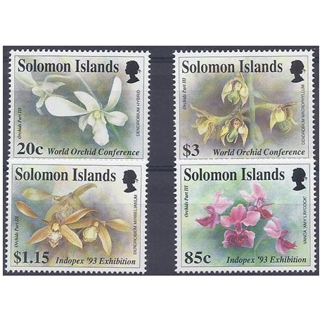 Timbres orchidees Salomon N° 782/785 neufs