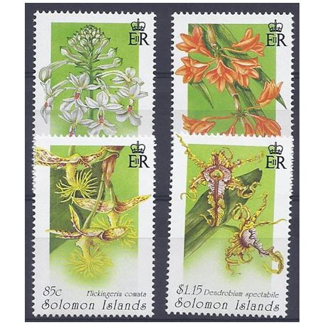 Timbres orchidees Salomon N° 848/851 neufs