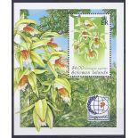 Briefmarken Orchideen Salomon Block Nr. 41 neun