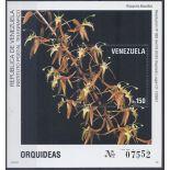 Briefmarken Orchideen Venezuela Block Nr. 38 neun