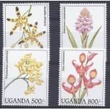 Timbres orchidees Ouganda N° 1339/1342 neufs