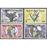 Timbres orchidees Turk et Caiques N° 1086/89