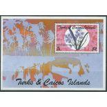Francobolli orchidea Turque e Caiques blocco N° 141 nove