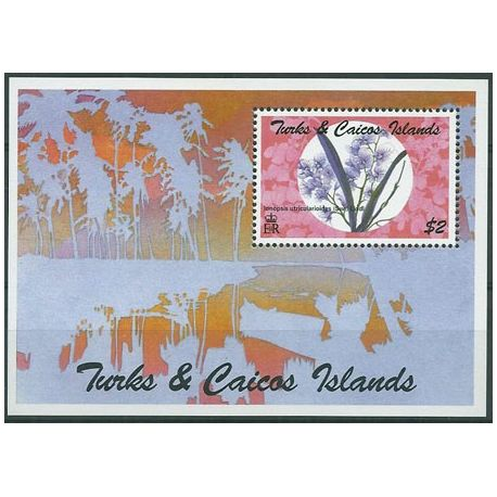 Timbres orchidees Turk et Caiques bloc N° 141 neuf