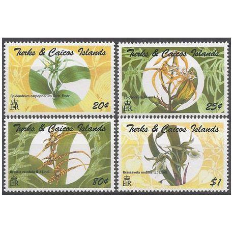 Timbres orchidees Turk et Caiques N° 1132/35 neufs
