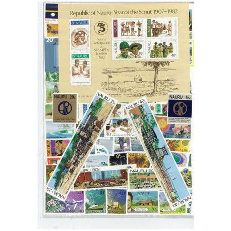 Collection de timbres Nauru oblitérés